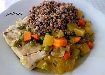 Ryba dušená na zelenině