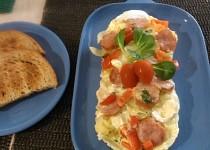 Selská omeleta z mikrovlnky