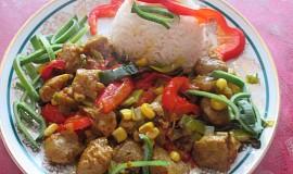 Sojové maso na zelenině