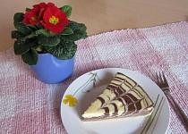 Tvarohový koláč se zajímavým efektem