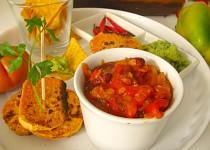 Vegetariánské chilli s pečenými  batáty