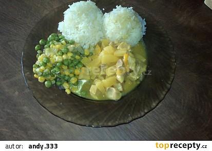 Vepřová kýta s ananasem