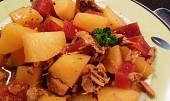 Vepřové maso s červenou řepou