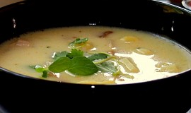 Bramborová polévka s hříbky