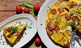 Bramborová tortilla s chorizem a žampiony ( Tortilla de patatas )