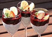 Chia pudink s borůvkami