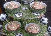 Čokoládové cucpcakes  pro fotbalistu