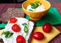 Jemná pomazánka z lilku a čerstvého sýra