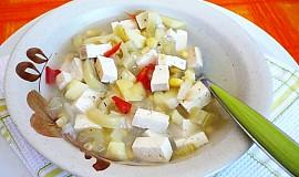 Kukuřičná polévka s tofu