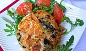Lososové burgery s quinoa a špenátem
