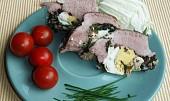 Plec plněná vajíčkem, špenátem a estragonem