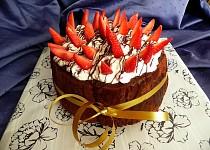 Roládový dort bez mouky, s jahodami ( přirozeně bez lepku)