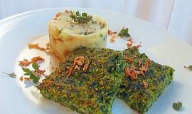 Špenátové kostky s balkánským sýrem