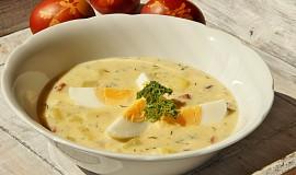 Vaječno - bramborová polévka s koprem