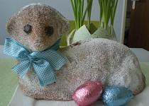 Velikonoční beránek z podmáslí s ořechy