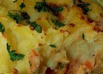 Zapečené rybí filety pod bramborovou peřinou
