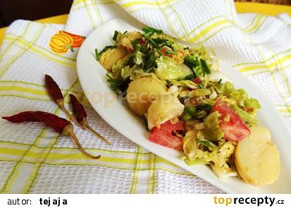 Kapustovo - bramborový salát