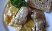Kuře na paprikách
