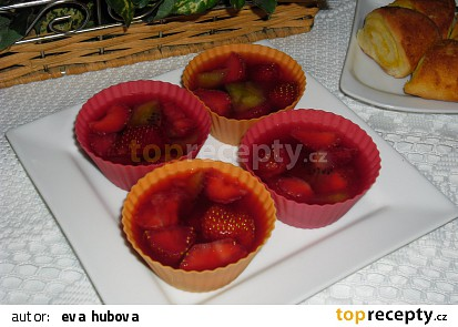 Ovocné želé dortíky