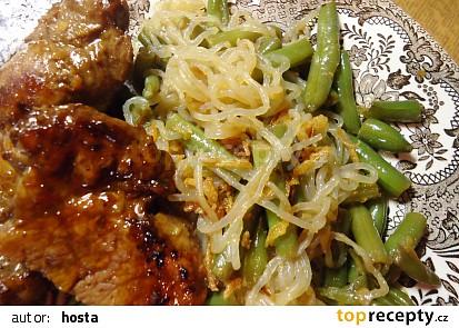 Perfect pasta (zeleninové špagety) s fazolkami
