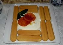 Piškoty s krémem a pečeným pomerančem