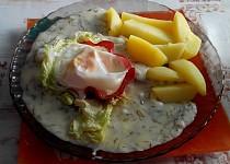 Rychlá bílá koprovka se sázeným vejcem