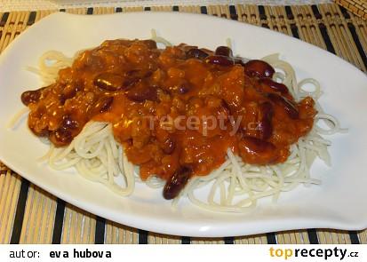 Špagety s fazolema