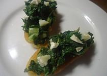 Zelené bruschetty