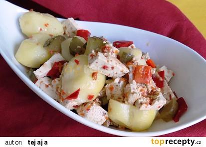 Bramborový salát s tofu