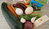 Cuketová sekaná se zeleninou