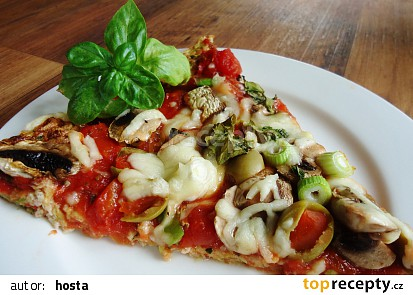 Cuketovomandlová pizza bez mouky