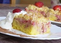 Jahodovo  - kokosový koláč