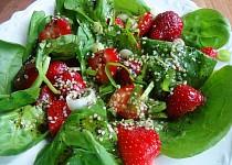 Jahodovo-špenátový salát