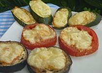 Lilek, cuketa, rajče zapékané se sýrem