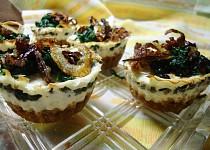 Lučinové muffiny se špenátem