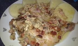 Pečené kuřecí čtvrtky aneb vše v jednom pekáči