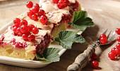 Rybízový koláč se sněhem