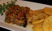 Žraločí steak s chimichurri