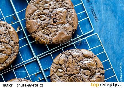 Čokoládové brownie cookies