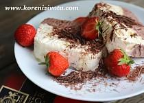 Čokoládovo-vanilkové semifreddo