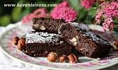 Cuketové brownies s arašídovým máslem bez mouky