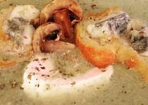 Cuketovo-žampionový krém s gorgonzolou