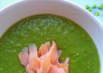 Hrášková polévka s uzeným lososem