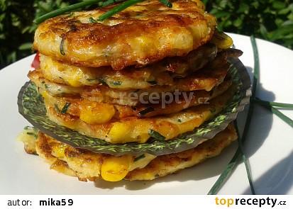 Kukuřičné placičky se sýrem