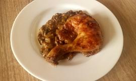 Kuře se sladkokyselou houbovou omáčkou
