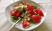Letní salátek s mozzarellou a avokádem