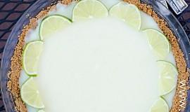 Limetkový koláč s bílou čokoládou