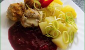 Masové kuličky s Hermelínem a pikantní švestkovou omáčkou