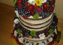 Nahý dort s ovocem