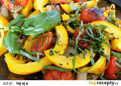 Pečená zelenina s bazalkou